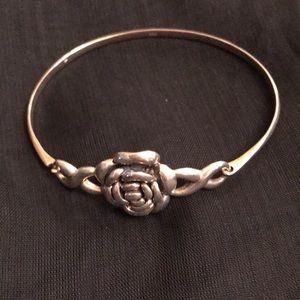 Jewelry - Sterling Silver 925 Rose Bracelet NEW